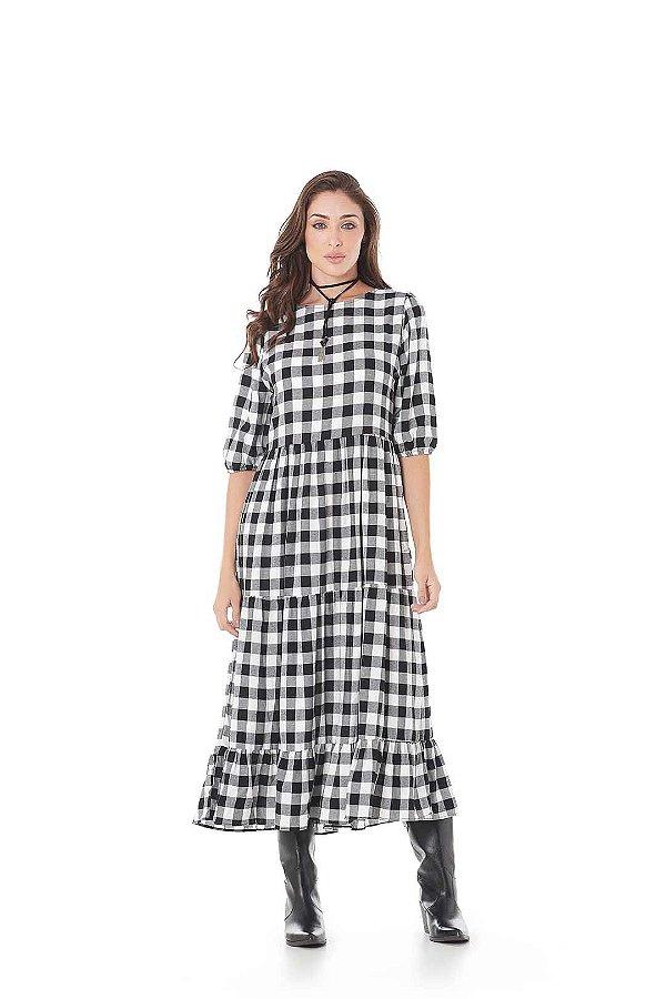 Vestido Viscose Xadrez PB