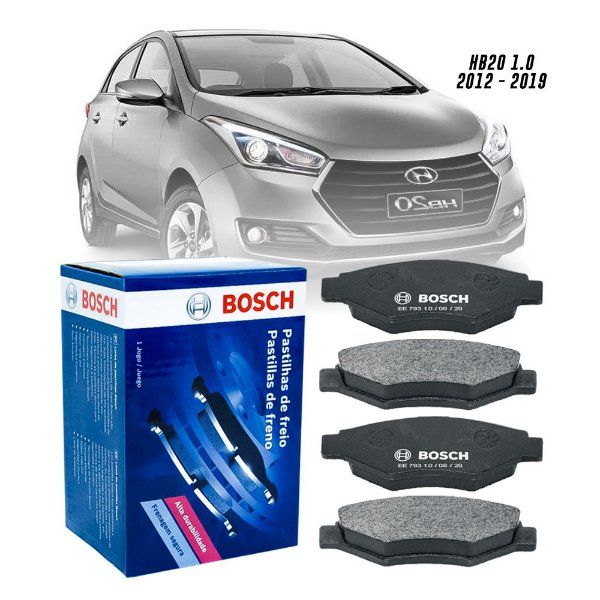 Pastilha Freio Bosch Diant. Hyundai Hb20 S 1.0