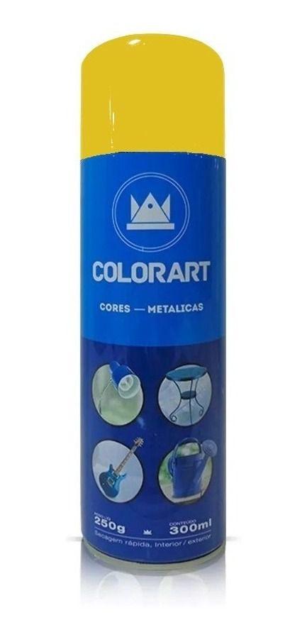 Tinta Spray Amarelo Metálico Colorart 300ml