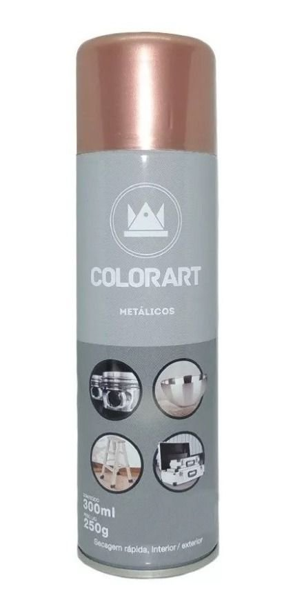 Tinta Spray Colorart Metálicos Ouro Rose