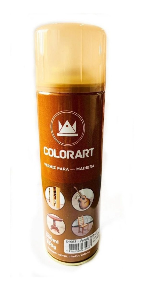 Spray Verniz Imbuia Para Madeira Colorart 300ml