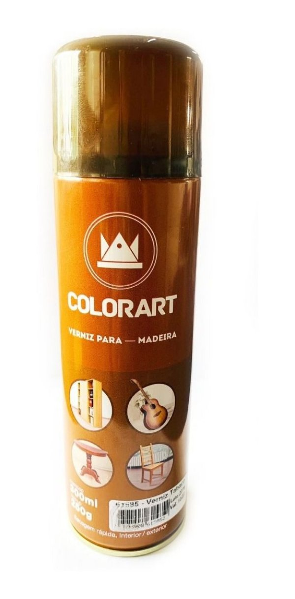 Spray Verniz Tabaco Para Madeira Colorart 300ml