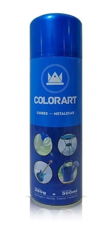 Tinta Spray Azul Metálico Colorart 300ml