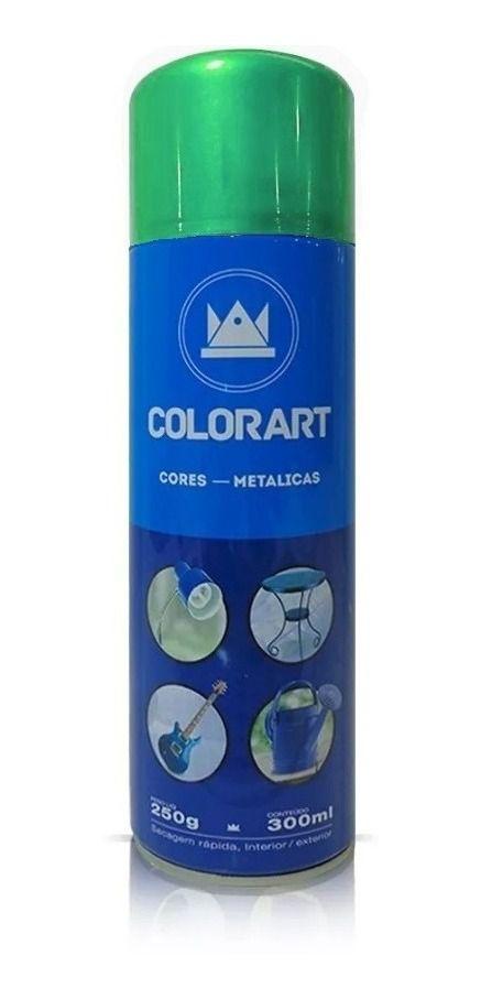 Tinta Spray Verde Metálico Colorart 300ml