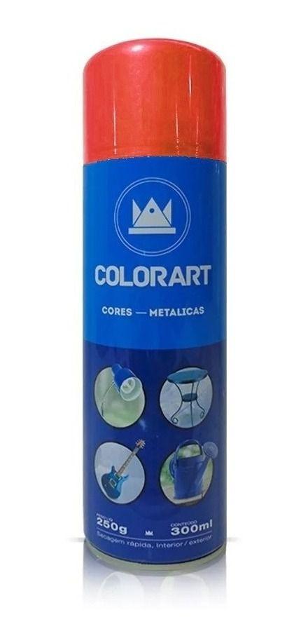 Tinta Spray Vermelho Metálico Colorart 300ml