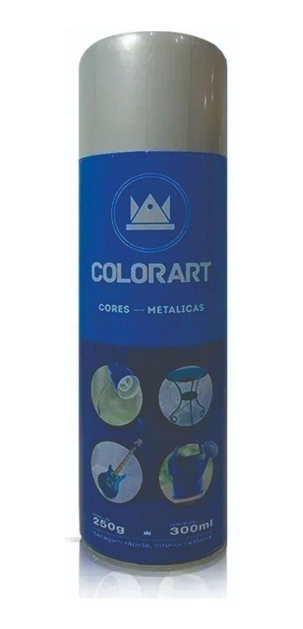 Tinta Spray Platina Metálico Colorart 300ml