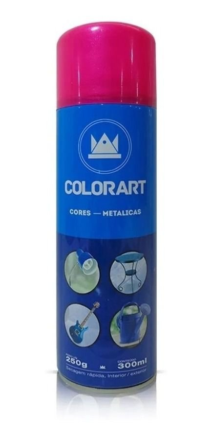 Tinta Spray Rosa Metálico Colorart 300ml
