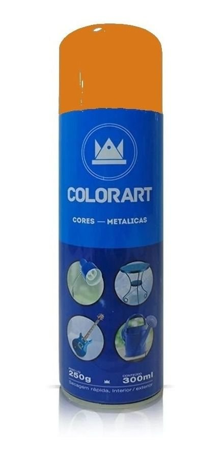 Tinta Spray Laranja Metálico Colorart 300ml