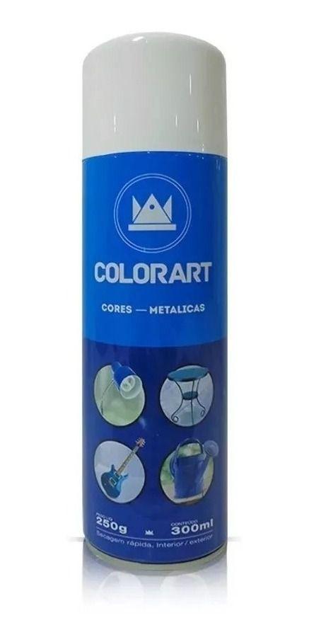 Tinta Spray Branco Perolado Metálico Colorart 300ml