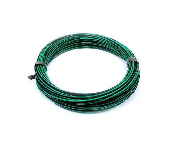Fio Cabinho Flexível Listrado Verde/Preto 1,00mm Cobre TC CABOS