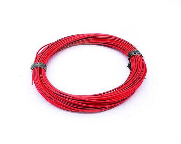 Fio Cabinho Flexível Listrado Vermelho/Preto 1,50mm Cobre TC CABOS