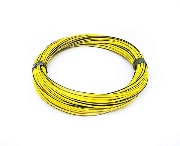 Fio Cabinho Flexível Listrado Amarelo/Preto 1,50mm Cobre TC CABOS