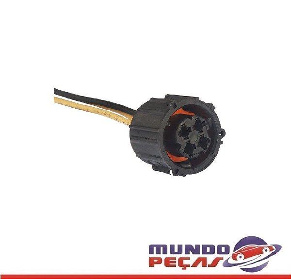 Chicote Modular do Abs Mbb Sensor de Pressão do Óleo Sensor Temperatura Linha Volvo - 4 Vias - Fêmea - Uni