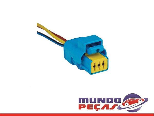 Chicote do Sensor Eletr. do Ar Cond Peugeot Citroen Audi - 3 Vias - Fêmea