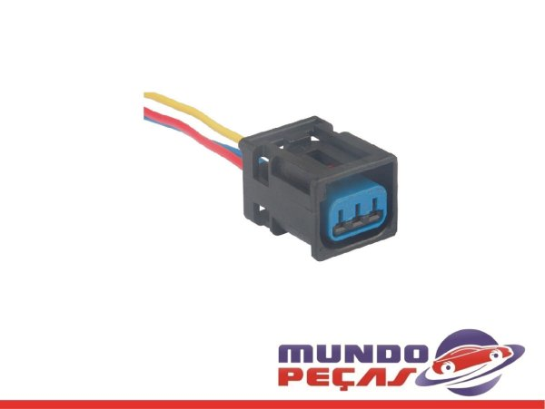 Chicote da Bobina de Ignição Courier Fiesta Ka Eco Sport Mondeo - 3 Vias - Fêmea