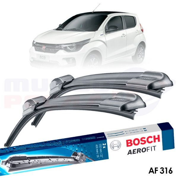Palheta Original Bosch Aerofit Fiat Mobi 2016 2017 2018 2019