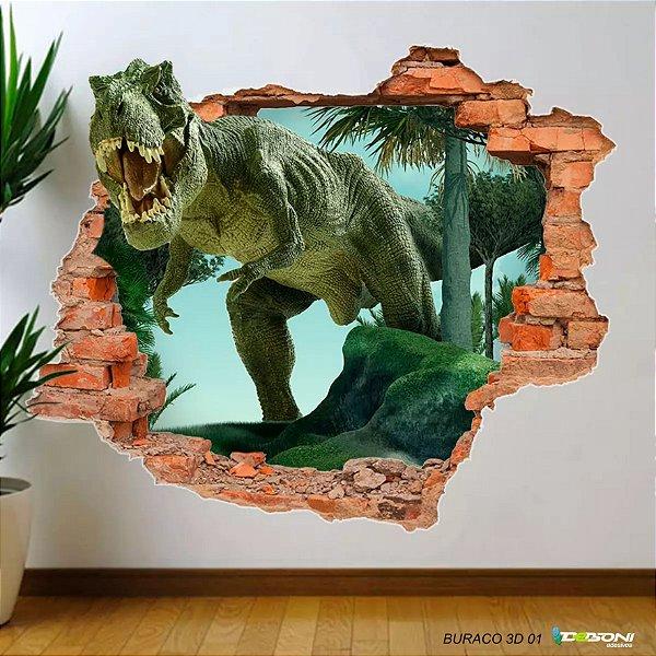 Papel de Parede Adesivo Buraco 3D