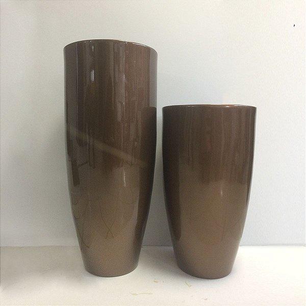 Conjunto de Vasos Cobre de Fibra de Vidro