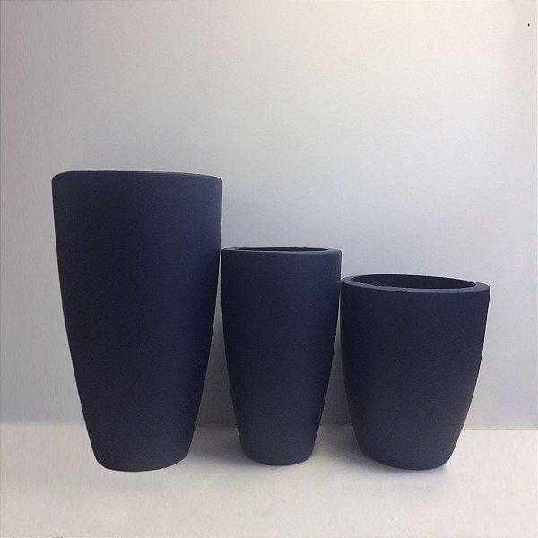 Conjunto de Vasos Azul de Fibra de Vidro