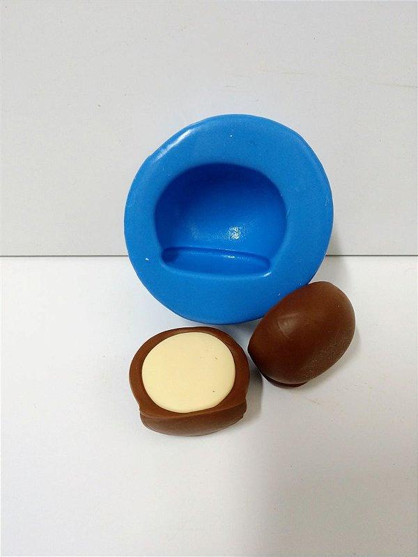 Molde de Silicone Bombom Recheado - 3x3,5 Centímetros