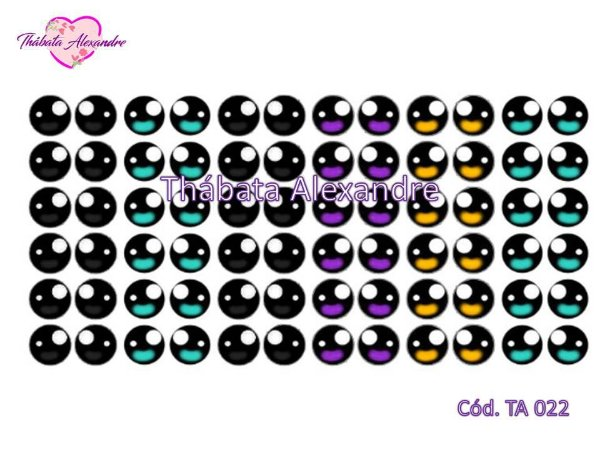 Olhos Adesivos c/ Recorte TA 022