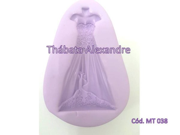 Molde de Silicone Vestido de 15 anos / Noiva