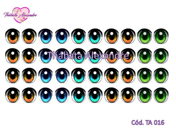 Olhos Adesivos c/ Recorte - TA 016