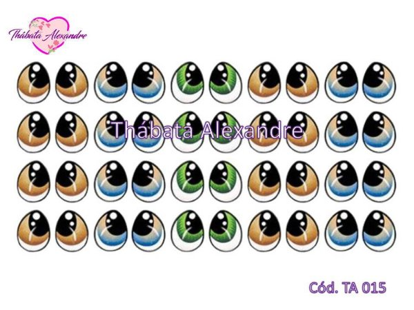 Olhos Adesivos c/ Recorte - TA 015