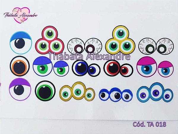 Adesivo de olhos com recorte TA 018