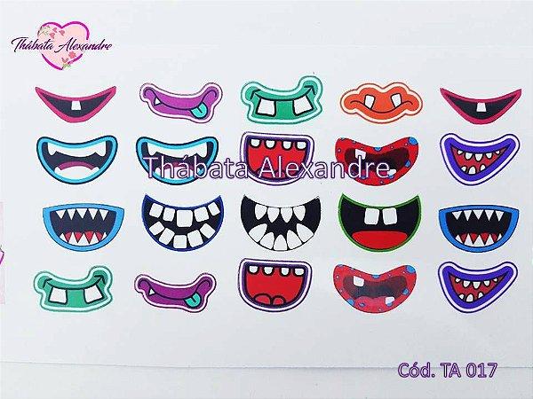 Adesivo de bocas c/ recorte TA 017