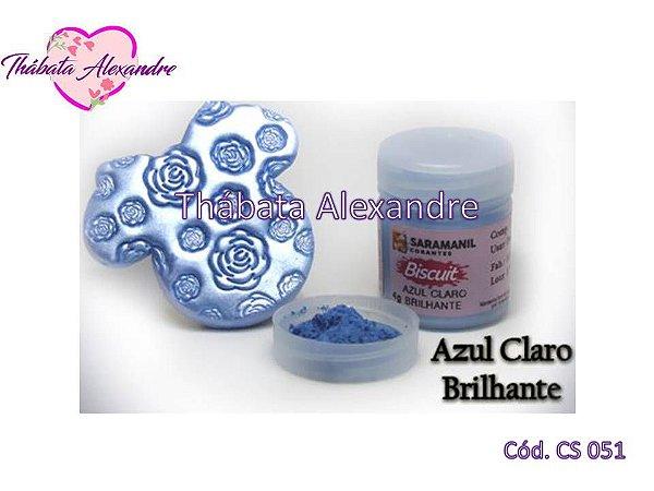 Corante em pó Brilhante - Azul Claro