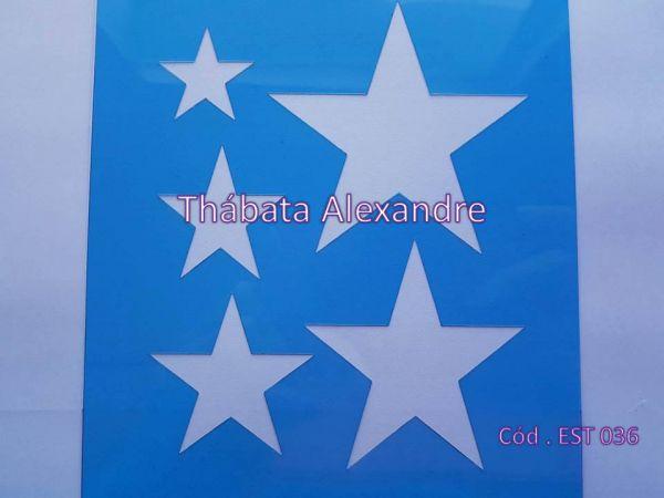 Estêncil Estrela Patchwork 15 X 20