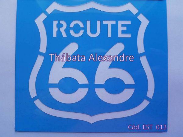 Estêncil Route 66 - 14X14