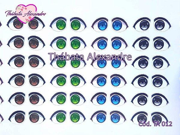 Adesivo de Olhos c/ Recorte Cód. TA 012