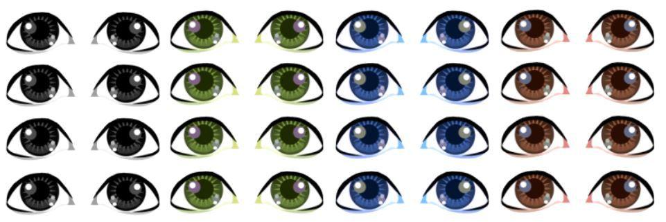 Adesivo de Olhos c/ Recorte Cód. TA 006