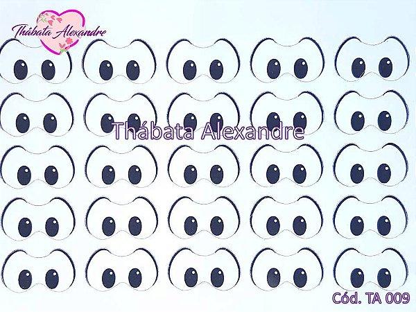 Adesivo de Olhos c/ Recorte Cód. TA 009