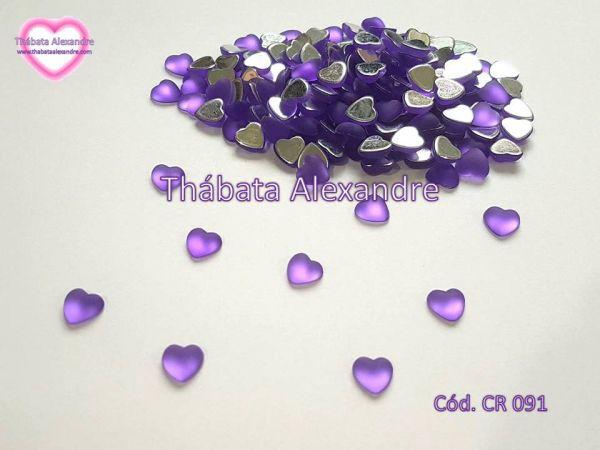 Chaton Coração Lua 8 MM Fosco - Lilás