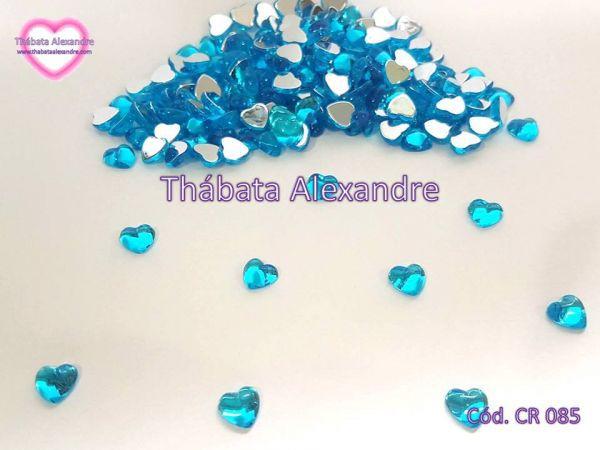 Chaton Coração Lua 8 MM - Azul
