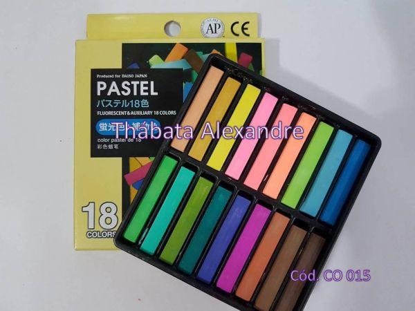 Giz Pastel Seco Cores Fluorescentes e Complementares