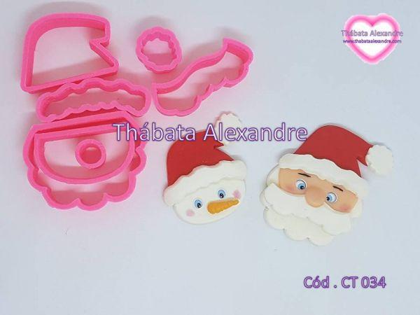 Cortador Cabeça do Papai Noel