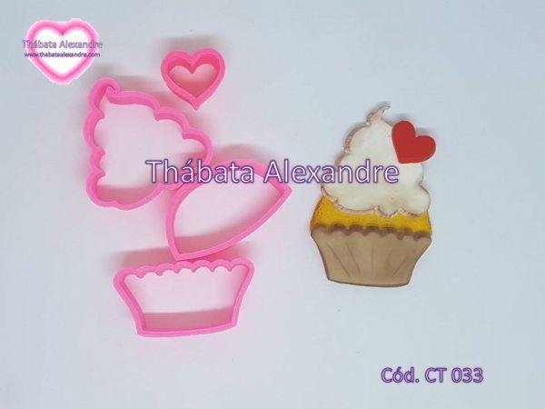 Cortador Cupcake Coração