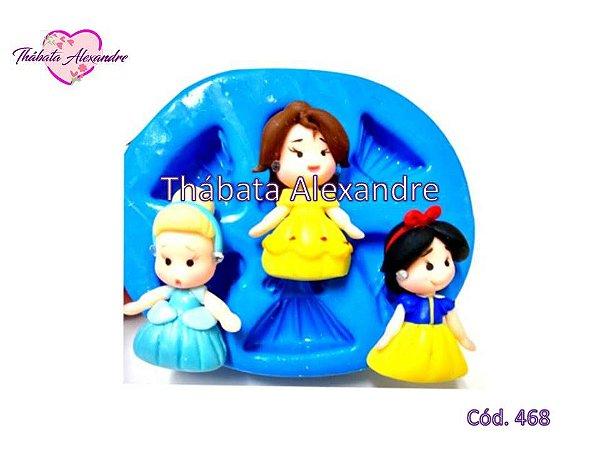 Molde de Silicone Vestido de Princesas