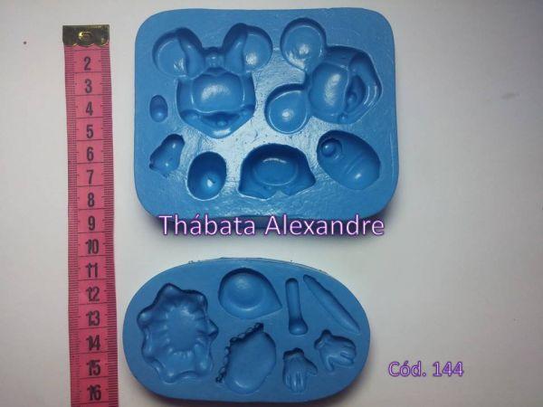 Molde de Silicone Mickey e Minnie 3D
