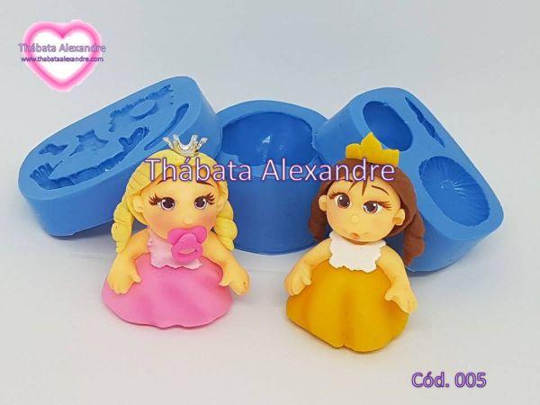 Molde de Silicone Kit Princesas