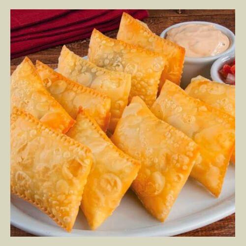 Pastel Frito c/ 2 sabores - valor ref. a 10 unidades