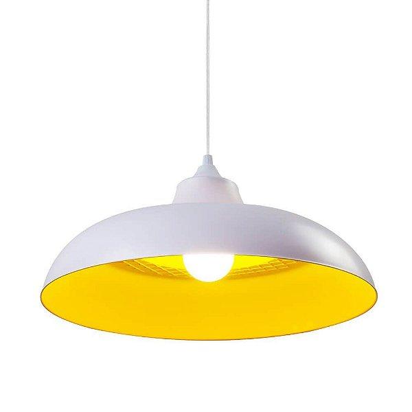 Luminaria Pendente Zenys Branca e Amarela