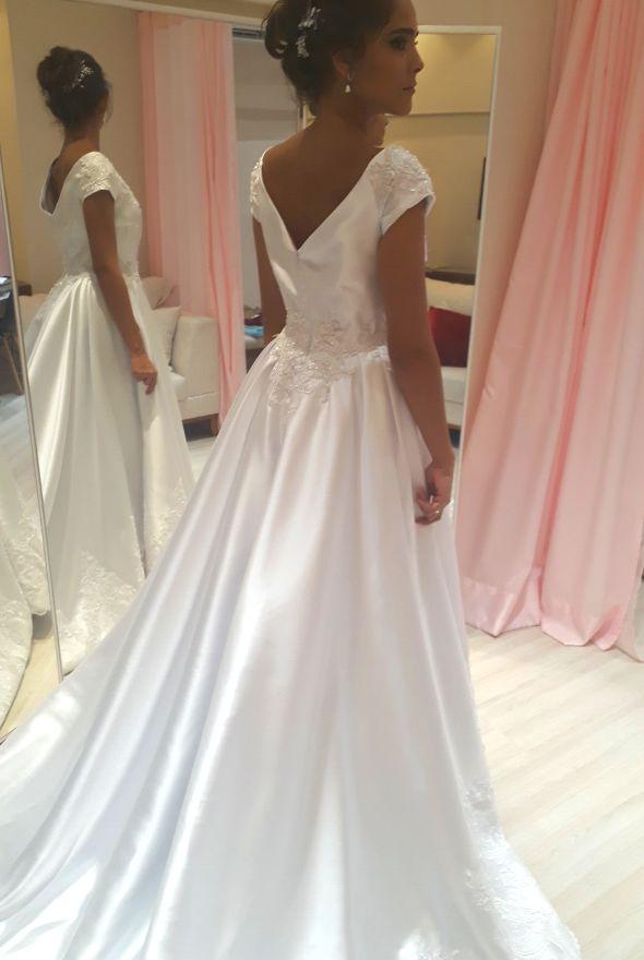 Vestido de Noiva Princesa Ombro a Ombro - CATHERINE