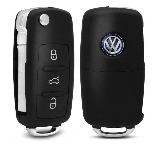 Capa de Chave Canivete Volkswagen Com 3 Botões
