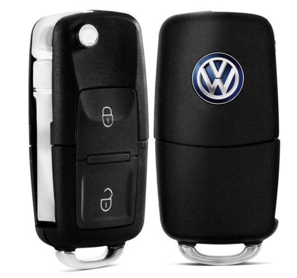 Capa de Chave Canivete Volkswagen Com 2 Botões