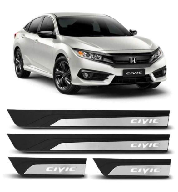 Soleira Led Branco Para Honda Civic 2016 a 2021